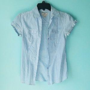 Blue Stripe Button Down Shirt